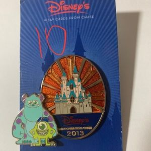 Disney Visa Chase Cardholder Mike and Sully Pin